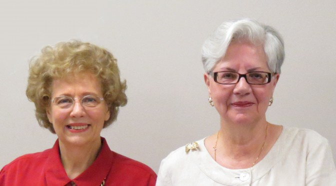 State President, Patricia Schneider and past Capitol Chapter President, Rosalie Lavelle