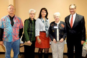 David Tevebaugh, Rosalie Lavelle, Connie Eckert, Virgene Putman and John Ruckelshaus