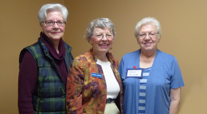 Capitol Chapter Members Rosalie Lavelle, Treasurer Diana Hunter, President Virgene Putnam, Prayer Chairman